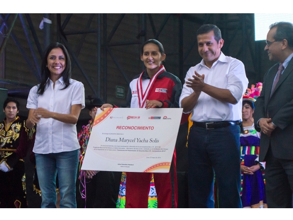 Alumna UPC obtiene reconocimiento del Presidente en Ceremonia de Beca 18
