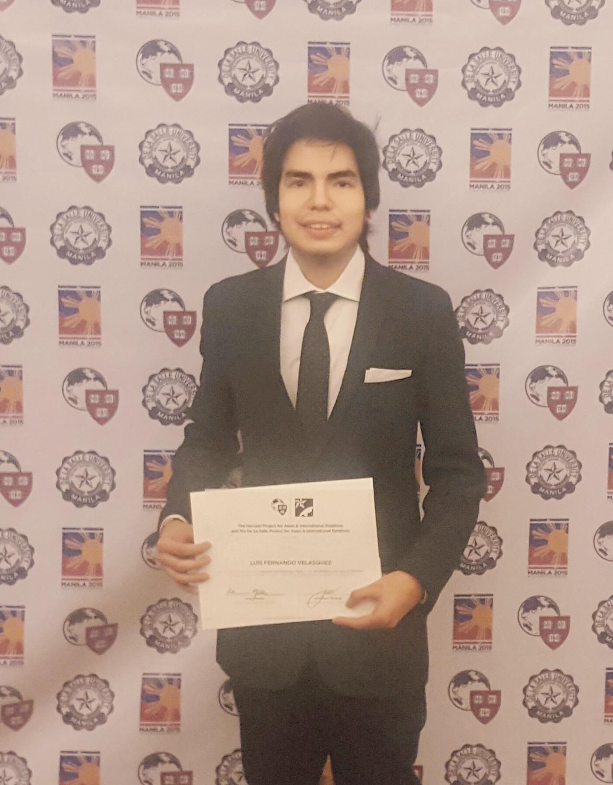 Alumno de la UPC representó al Perú en la Convención Internacional HarvardPAIR en Filipinas