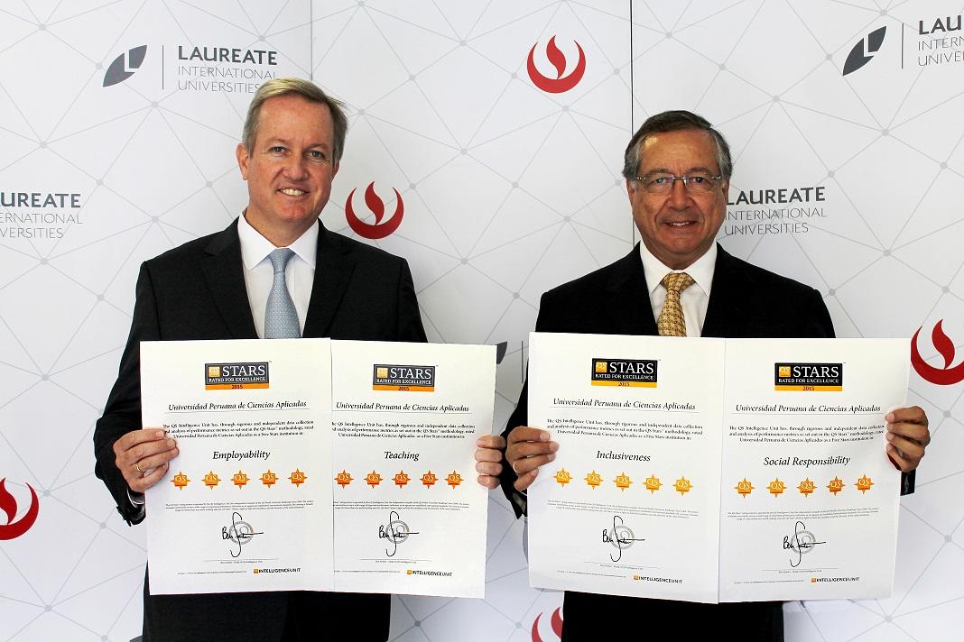 UPC es reconocida internacionalmente con la más alta calificación en cuatro categorías del QS Stars 2015