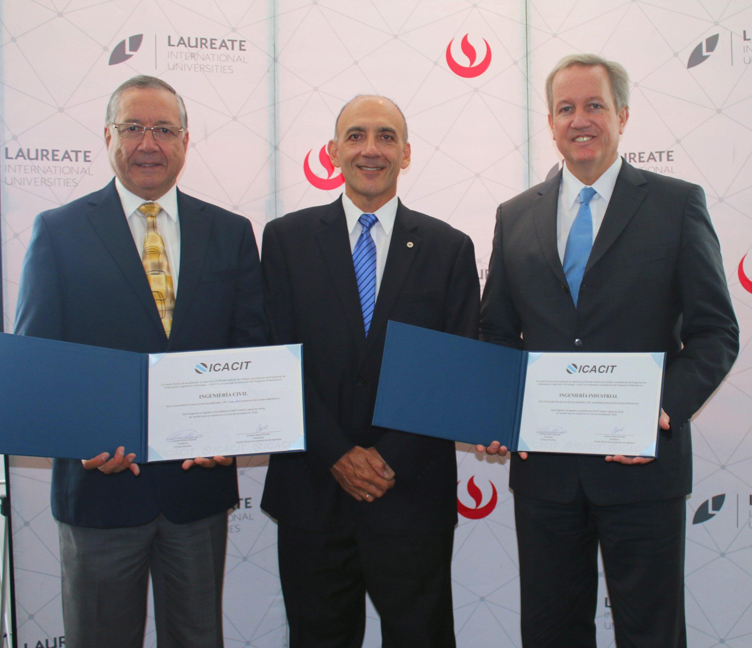 Carreras de Ingeniería Civil e Ingeniería Industrial de la UPC recibieron acreditación de ICACIT