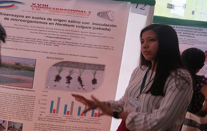 Carrera de Ingeniería Ambiental participó en el XVIII Congreso Nacional Y IX Internacional de la Ciencia del Suelo