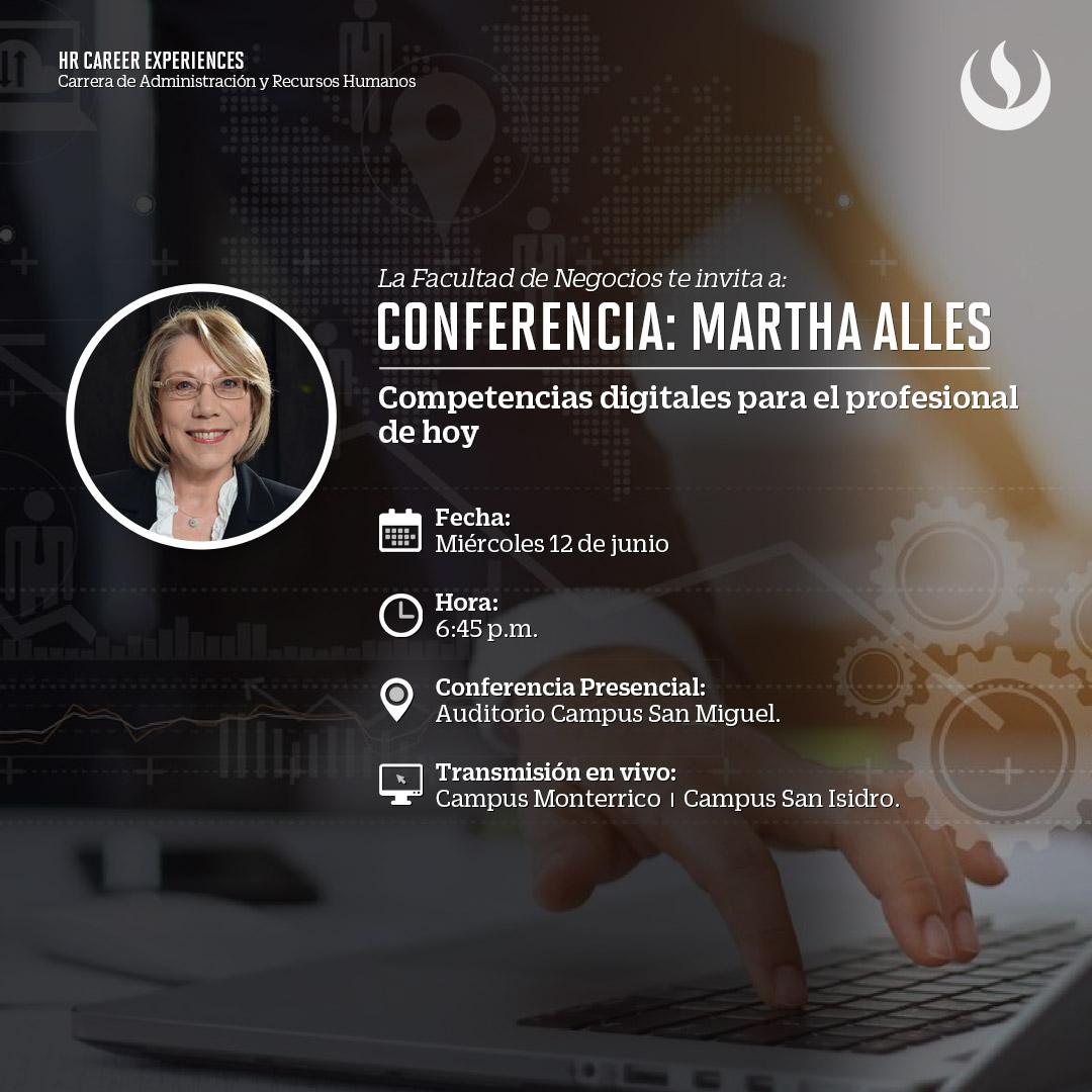 """Agenda UPC: Martha Alles estará a cargo de la conferencia internacional """"Competencias digitales para el profesional de hoy"""""""