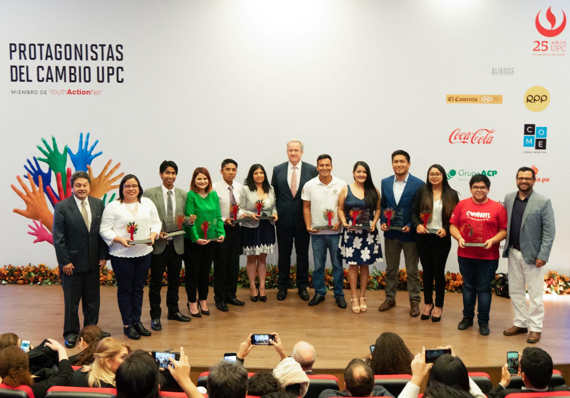 Ganadores de Protagonistas del Cambio UPC 2019