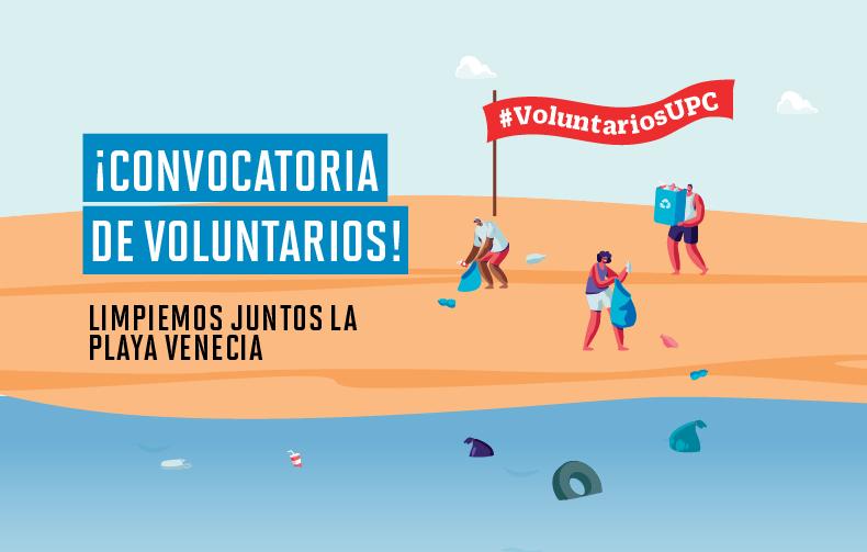 Conviértete en un voluntario UPC y limpia la playa Venecia