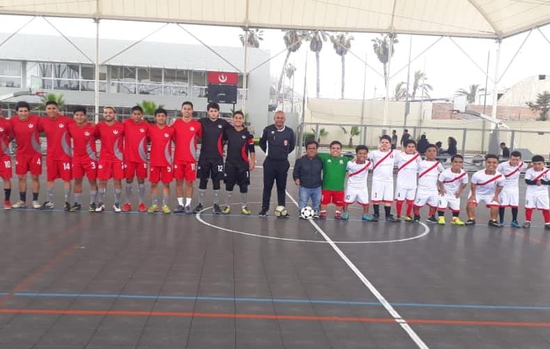 Deportes UPC: Selección de Futsal Varones participó en amistoso con la Selección Peruana de Fútbol de Talla Baja