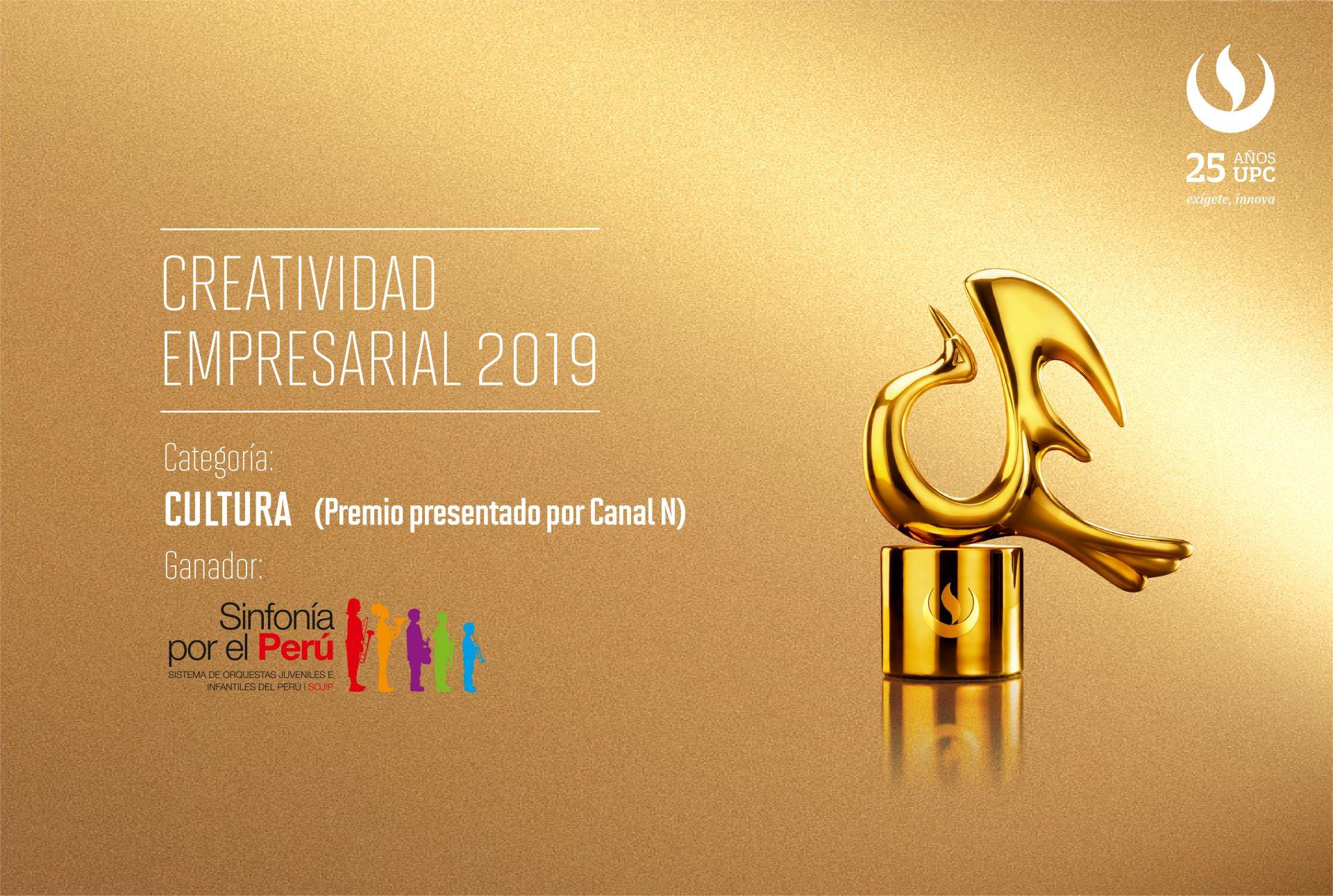 Creatividad Empresarial 2019: Sinfonía por el Perú ocupó el primer lugar en la categoría Cultura