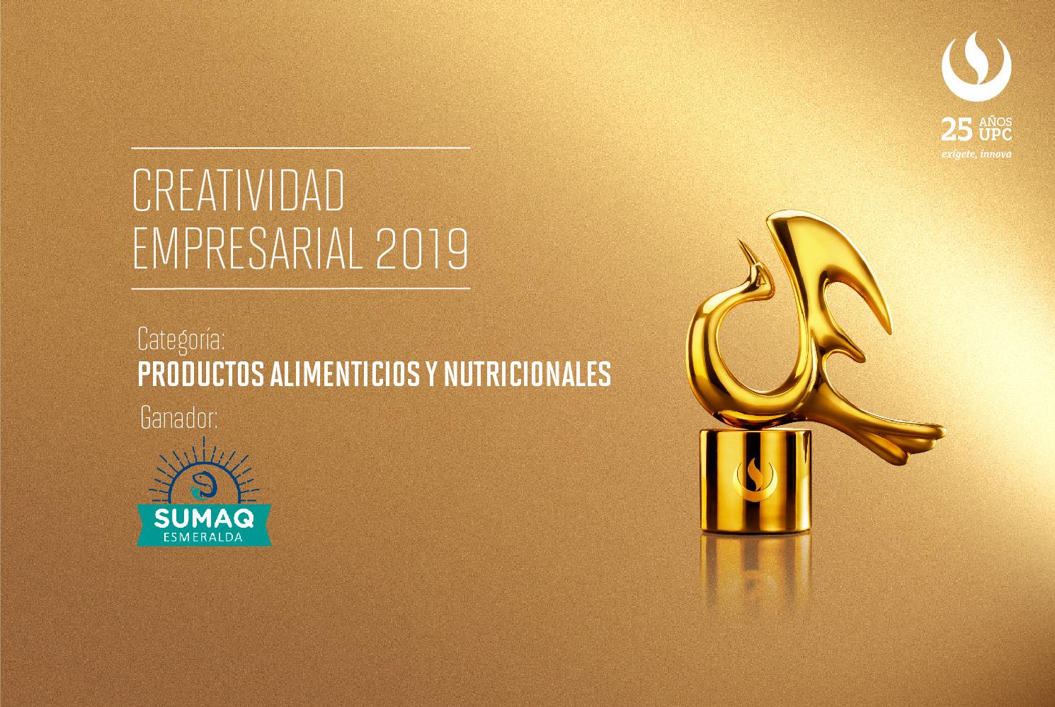Creatividad Empresarial 2019: Sumaq Challwa fue el proyecto ganador en la categoría Productos alimenticios y nutricionales