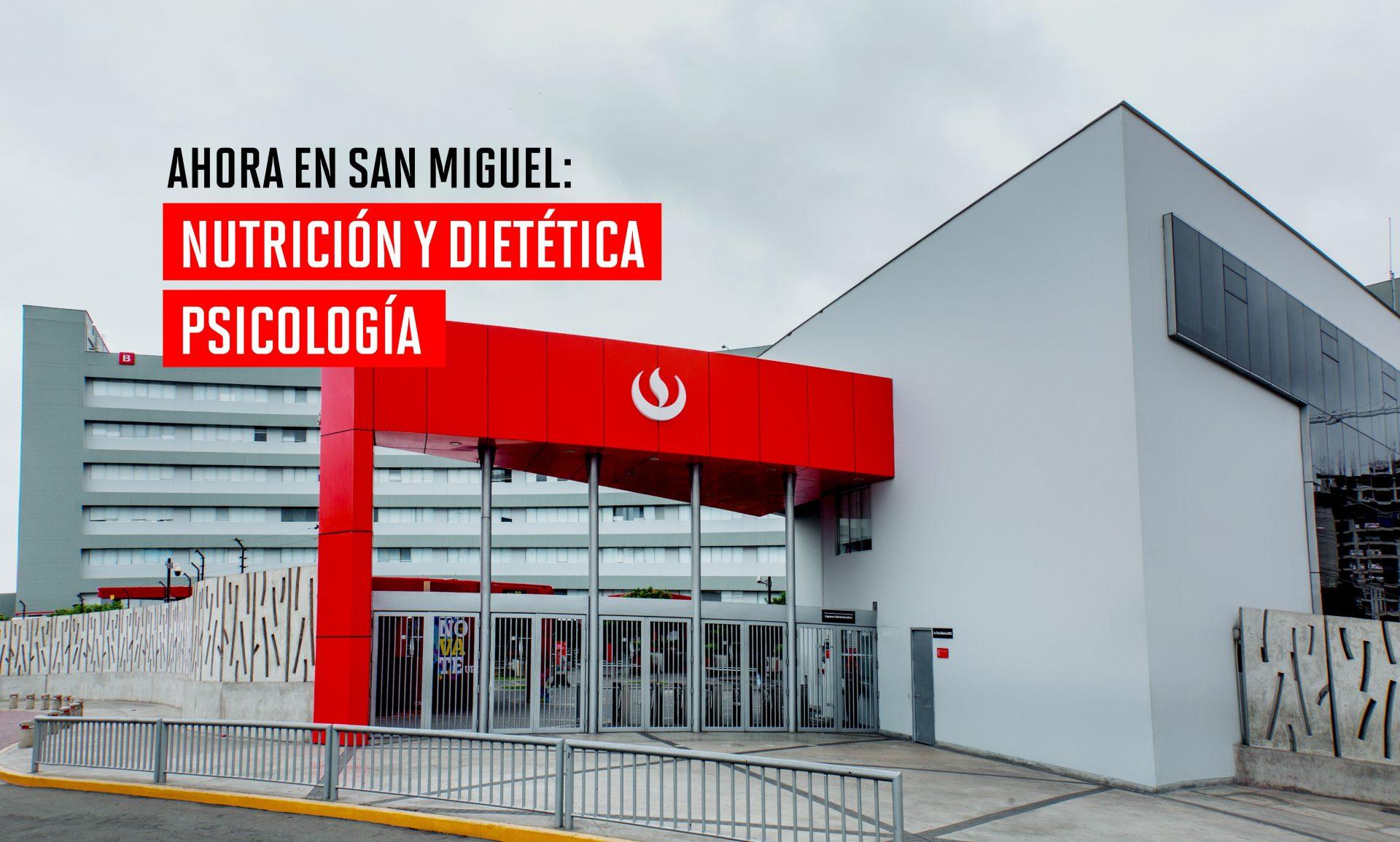 Apertura de las carreras de Nutrición y Dietética y Psicología en el Campus San Miguel