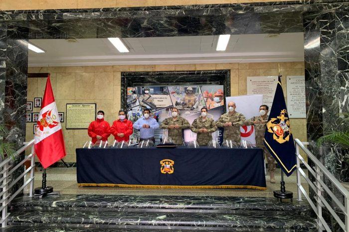La Universidad Peruana de Ciencias Aplicadas produce y dona protectores faciales a La Marina de Guerra del Perú