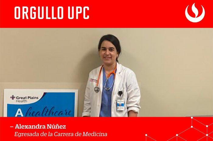 #OrgulloUPC:  Alexandra Nuñez, egresada de la carrera de Medicina, integra equipo médico del hospital Great Plains Health en Nebraska