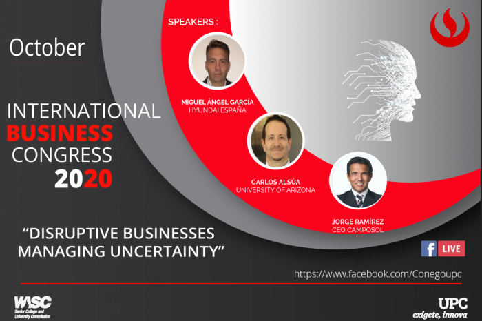 12th International Business Congress 2020: negocios disruptivos para contextos inciertos