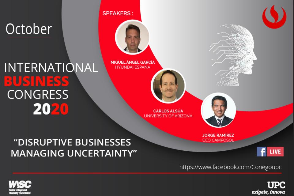 12th International Business Congress 2020: negocios disruptivos para contextos inciertos