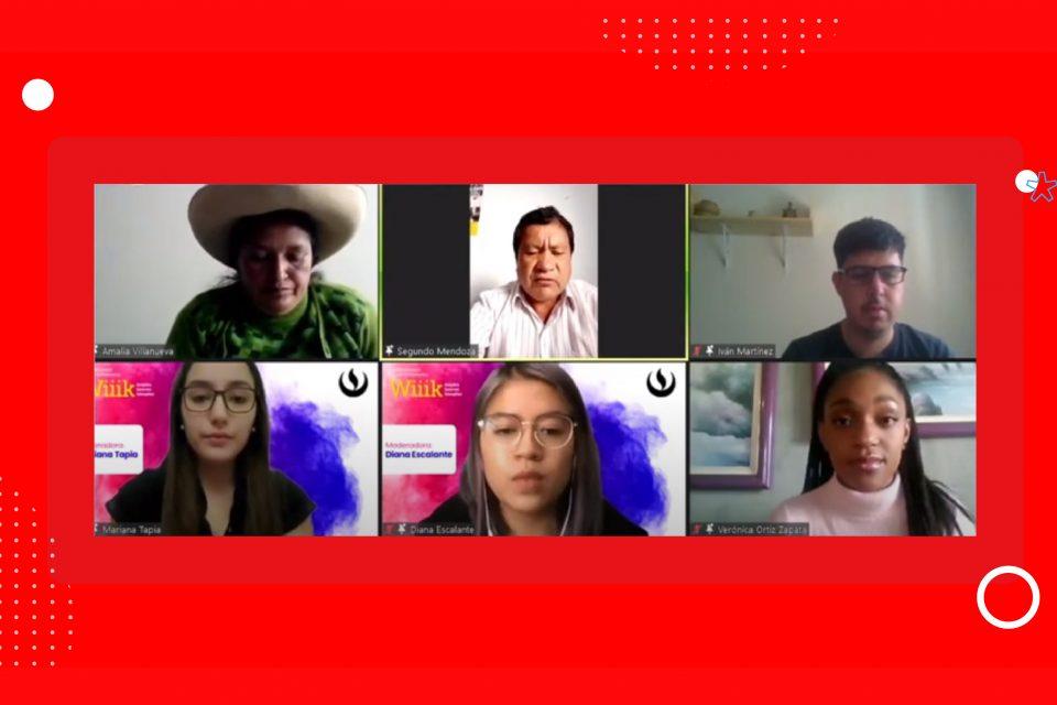 Estudiantes de Comunicación e Imagen Empresarial  conversaron con líderes comunales de Perú y México en #ImagenWiiik