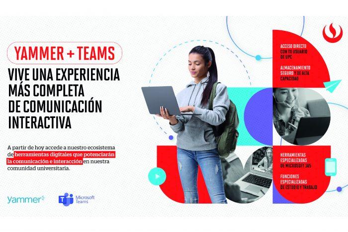 Yammer + Teams: Conoce la experiencia de una comunicación interactiva