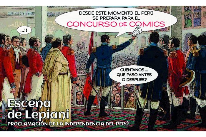 Concurso de cómics sobre la proclamación de la independencia