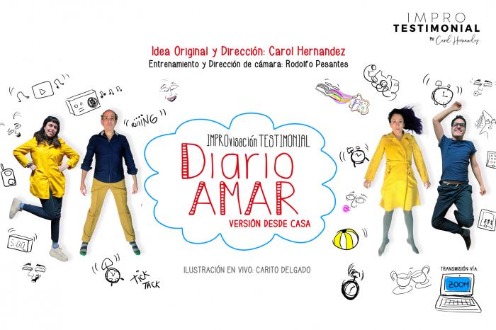 Impro testimonial: UPC Cultural invita a Diario Amar de Carol Hernández y Christian Ysla