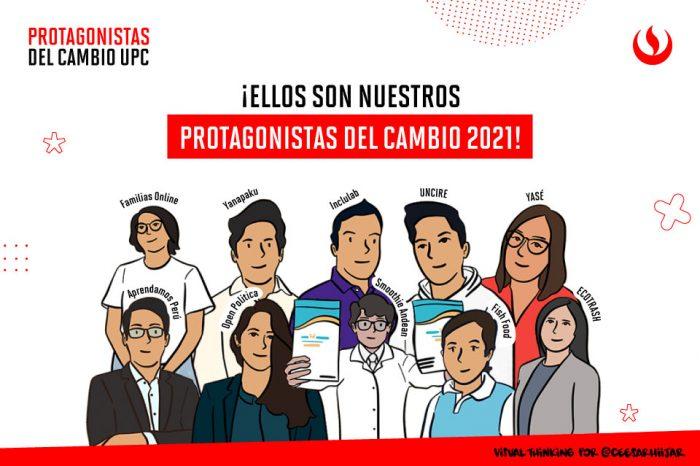 10 jóvenes emprendedores sociales se convierten en los ganadores de Protagonistas Del Cambio UPC 2021